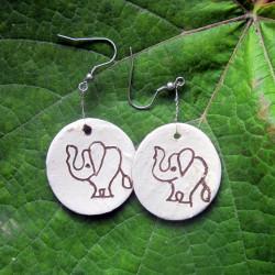 Náušnice slon