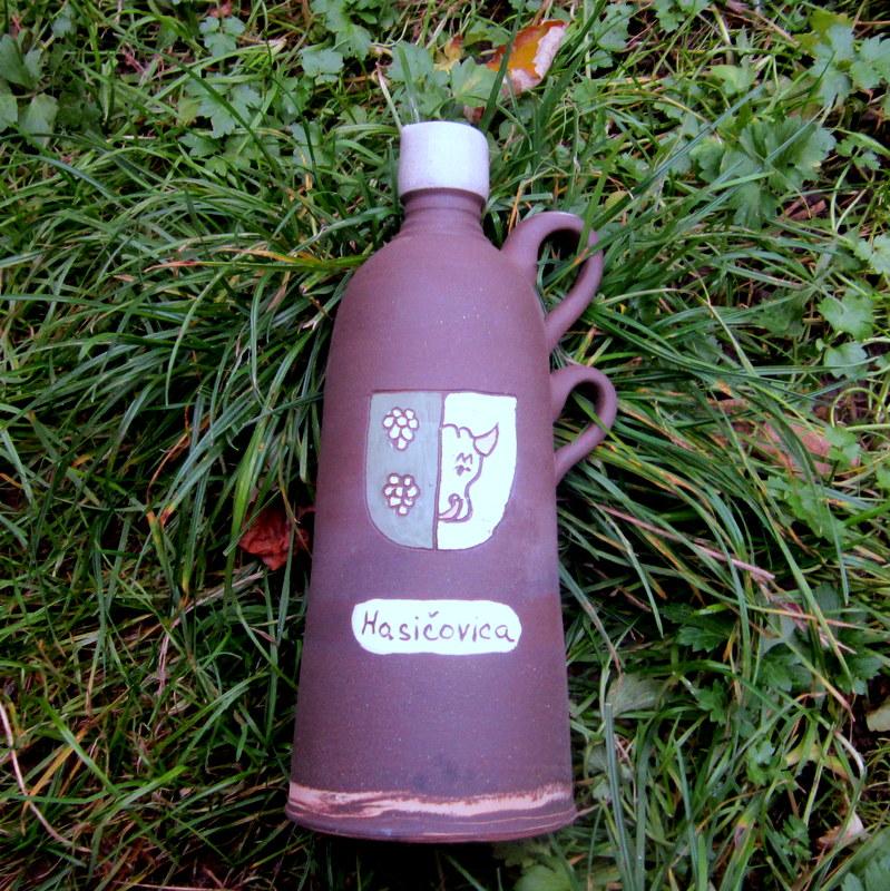 lahev s obecním znakem - hasiči