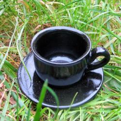 Hrníček černý espresso